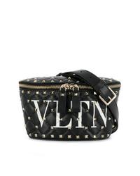 Riñonera de cuero negra de Valentino