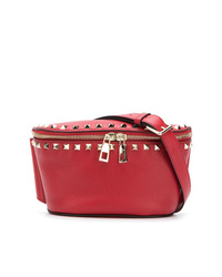 Riñonera de cuero roja de Valentino