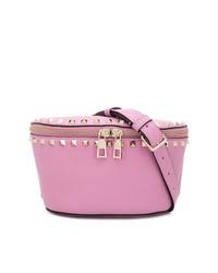 Riñonera de cuero rosada de Valentino