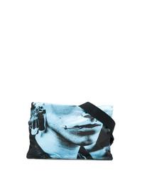Riñonera de lona azul marino de Raf Simons