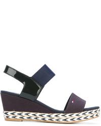 Sandalias con cuña azul marino de Tommy Hilfiger
