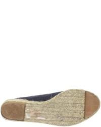 Sandalias con cuña de ante azul marino de Ralph Lauren