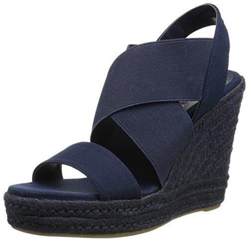 Sandalias con cuña de elástico azul marino de Ralph Lauren