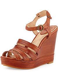 Sandalias con cuna marrones original 1642641