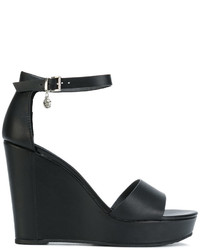Sandalias con Cuña Negras de Armani Jeans
