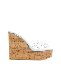 Sandalias con cuña transparentes de Giuseppe Zanotti Design