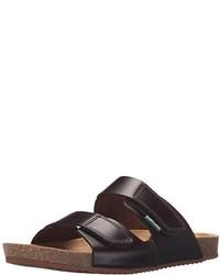 Sandalias de ante en marrón oscuro