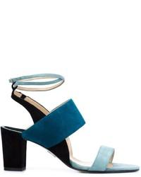 Sandalias de ante en verde azulado de Paul Andrew