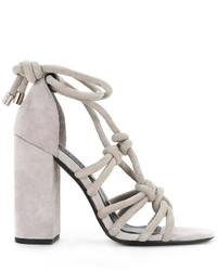Sandalias de ante grises de Senso