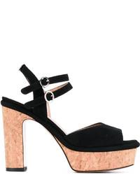 Sandalias de ante negras de Twin-Set