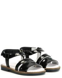 Sandalias de cuero azul marino de Armani Junior