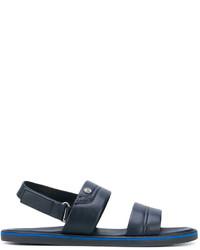 Sandalias de cuero azul marino de Baldinini