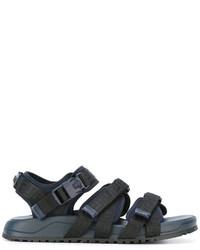 Sandalias de cuero azul marino de Versace