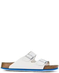 Sandalias de Cuero Blancas de Birkenstock