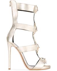 Sandalias de cuero doradas de Philipp Plein