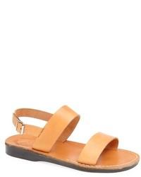 Sandalias de cuero marrón claro