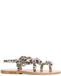 Sandalias de cuero marrón claro de Golden Goose Deluxe Brand