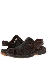 Sandalias de Cuero Marrón Oscuro