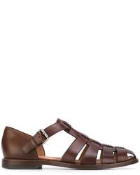 Sandalias de cuero marrónes de Church's