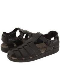 Sandalias de cuero negras