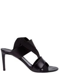 Sandalias de cuero negras de Balenciaga