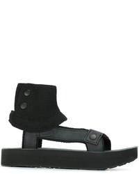 Sandalias de cuero negras de Han Kjobenhavn