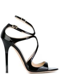 Sandalias de cuero negras de Jimmy Choo