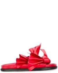 Sandalias de cuero rojas de Cédric Charlier
