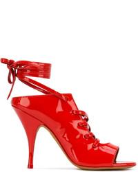 Sandalias de cuero rojas de Givenchy