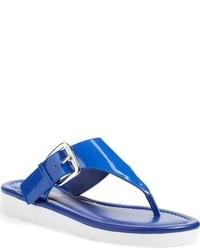 Sandalias de dedo de cuero azules