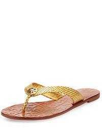 Sandalias de dedo doradas