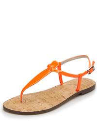Sandalias de dedo naranjas