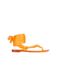 Sandalias de dedo naranjas de Casadei
