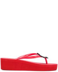 Sandalias de Dedo Rojas de Armani Jeans