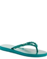 Sandalias de dedo verdes
