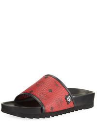 Sandalias de lona rojas