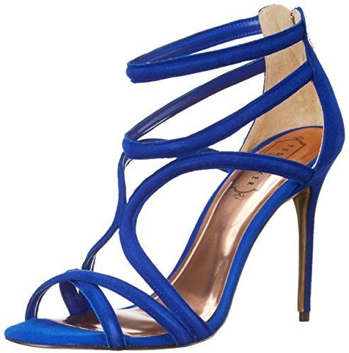 Sandalias de tacón de ante azules de Ted Baker
