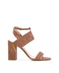 Sandalias de tacón de ante marrónes de Nicholas Kirkwood