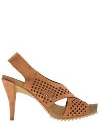Sandalias de tacón de ante marrónes de Pedro Garcia
