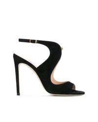 Sandalias de tacón de ante negras de Benedetta Boroli