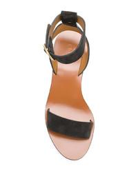 Sandalias de tacón de ante negras de Chloé