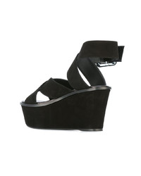 Sandalias de tacón de ante negras de Barbara Bui