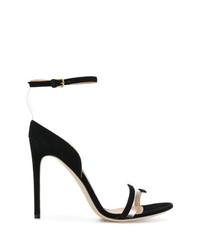 Sandalias de tacón de ante negras de Sergio Rossi