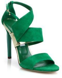 sandalias verdes