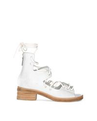 Sandalias de tacón de cuero blancas de Marsèll