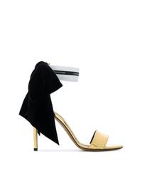 Sandalias de tacón de cuero doradas de Alexandre Vauthier