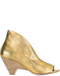 Sandalias de Tacón de Cuero Doradas de Marsèll