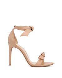 Sandalias de tacón de cuero marrón claro de Alexandre Birman