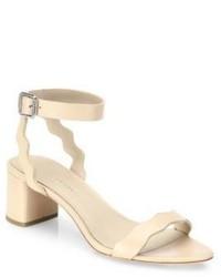 Sandalias de Tacón de Cuero Marrón Claro de Loeffler Randall