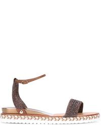 Sandalias de tacón de cuero marrónes de Casadei